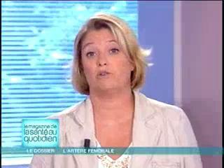 Marina Carrère d'Encausse et Michel Cymes décrivent l'artère fémorale.