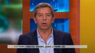 Marina Carrère d'Encausse et Michel Cymes expliquent les Troubles Musculo-Squelettiques (TMS).