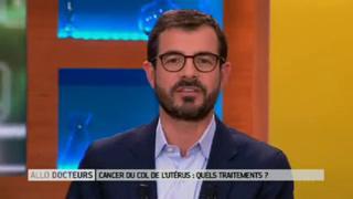 Marina Carrère d'Encausse et Benoît Thevenet expliquent le cancer du col de l'utérus.