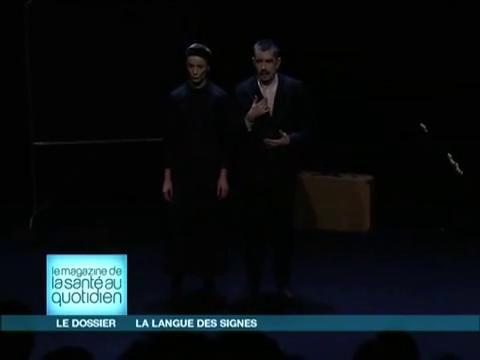 Comment mêler langue des signes et langue française au théâtre ?