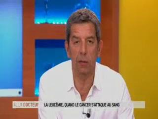 Marina Carrère d'Encausse et Michel Cymes présentent la leucémie.