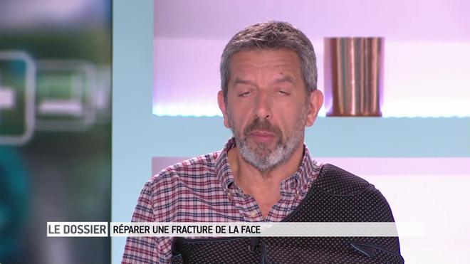 Marina Carrrère d'Encausse et Michel Cymes expliquent les fractures de la face