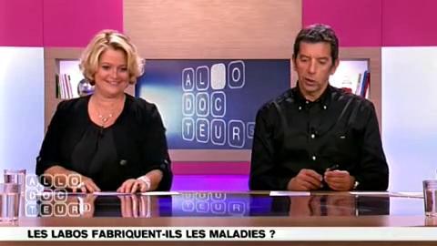 Marina Carrère d'Encausse et Michel Cymes s'expliquent au sujet d'éventuels liens avec l'industrie phamarceutique.