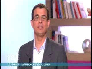 Marina Carrère d'Encausse et Benoît Thevenet expliquent les symptômes de la maladie de Rendu-Osler.