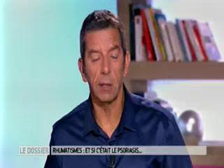 Marina Carrère d'Encausse et Michel Cymes expliquent les rhumatismes liés au psoriasis.
