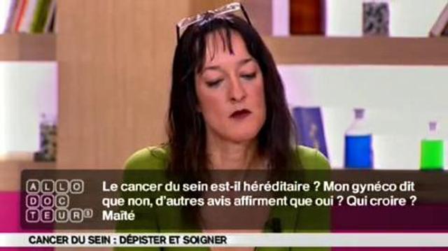 Cancer du sein : héréditaire?