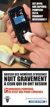 Campagne de sensibilisation à l'utilisation abusive des numéros d'urgence