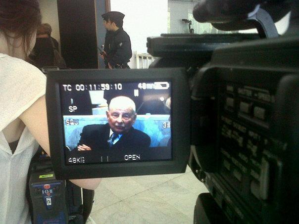 Jacques Servier au premier jour de son procès pénal au tribunal de Nanterre