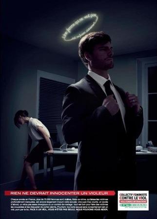 Affiche viol au travail