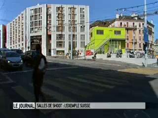 Reportage dans une salle de consommation de drogues en Suisse (diffusé en septembre 2010)