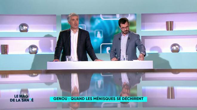 Régis Boxelé et Benoît Thevenet expliquent le rôle des ménisques