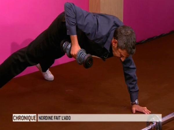Exercice avec des haltères