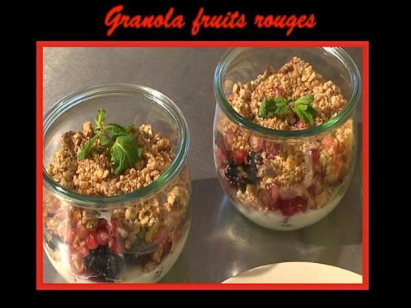 Granola aux fruits rouges