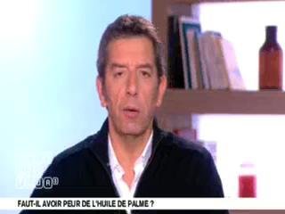 Benoît Thevenet et Michel Cymes présentent l'huile de palme.