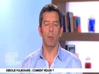 Marina Carrère d'Encausse et Michel Cymes expliquent l'embolie pulmonaire.