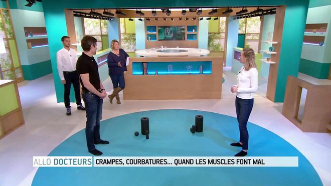 Démonstrations avec Delphine Le Porquier, masseur kinésithérapeute