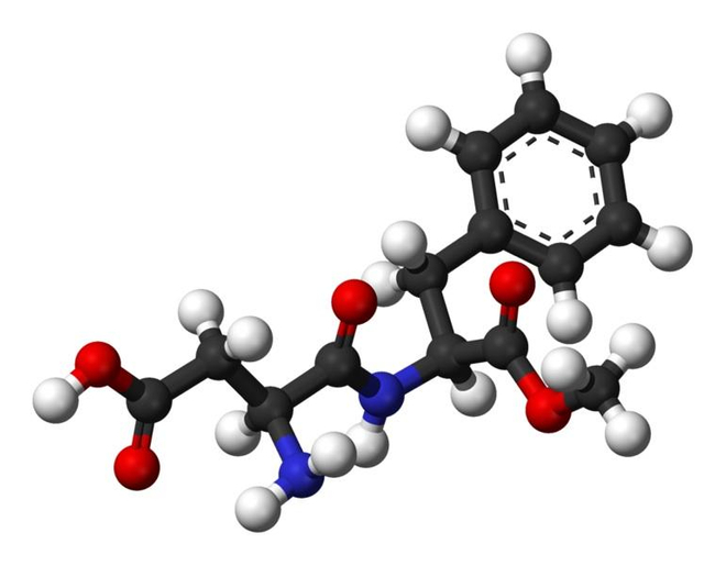Modélisation 3D d'une molécule d'aspartame