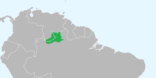 Localisation du peuple Yanomami (moins de 36.000 membres) en Amérique du Sud. cc-by-sa Javierfv1212
