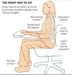 La posture idéale : se tenir droit !