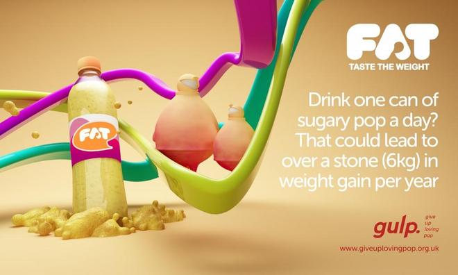 Deux des fausses publicités de la campagne Gulp. (DR)
