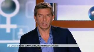 Marina Carrère d'Encausse et Michel Cymes présentent les différents types de condylomes.