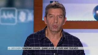 Marina Carrère d'Encausse et Michel Cymes expliquent le syndrome d'Usher.