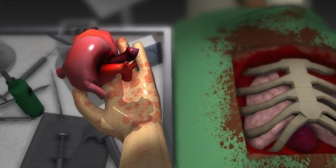 """Capture d'écran du jeu """"Surgeon Simulator"""""""