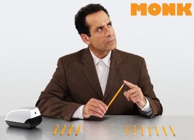 Dans la série Monk, d'Andy Breckman (2002-2009), le personnage joué par Tony Shalhoub est terriblement anxieux, et souffre de troubles obsessionnels compulsifs (TOC).