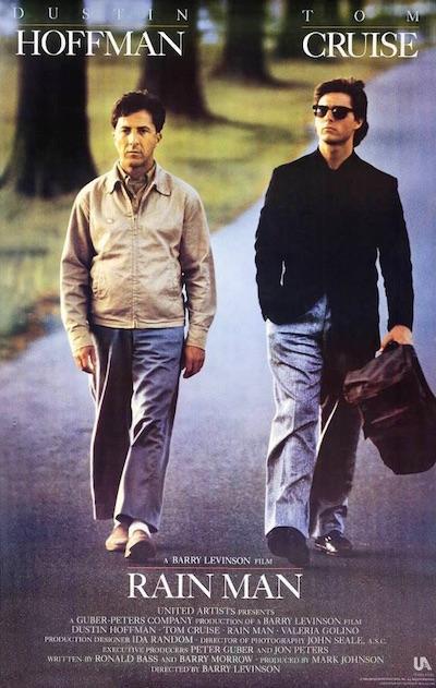 """Affiche du film """"Rain Man"""", de Barry Levinson (1988)"""