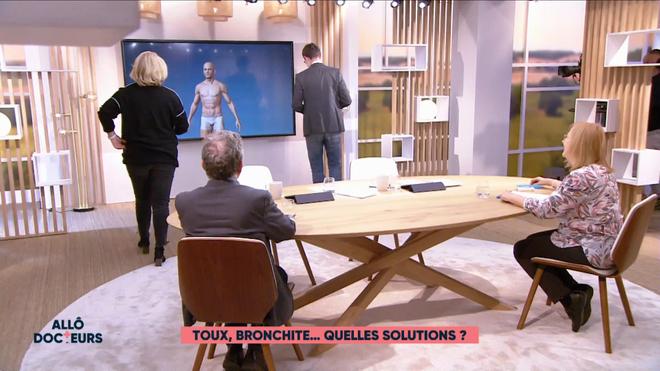 Marina Carrère d'Encausse et Philippe Charlier expliquent le mécanisme de la toux