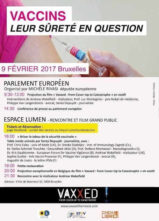 Flyer promouvant l'initiative de Michel Rivasi, avant que la projection au parlement européen ne soit annulée. (DR)