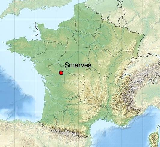 Localisation de la ville de Smarves (cc-by-sa E. Gaba)
