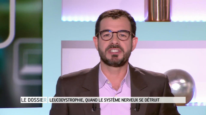 Marina Carrère d'Encausse et Benoît Thevenet expliquent la leucodystrophie