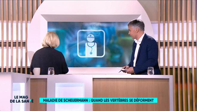 Marina Carrère d'Encausse et Régis Boxelé font un rappel anatomique de la colonne vertébrale