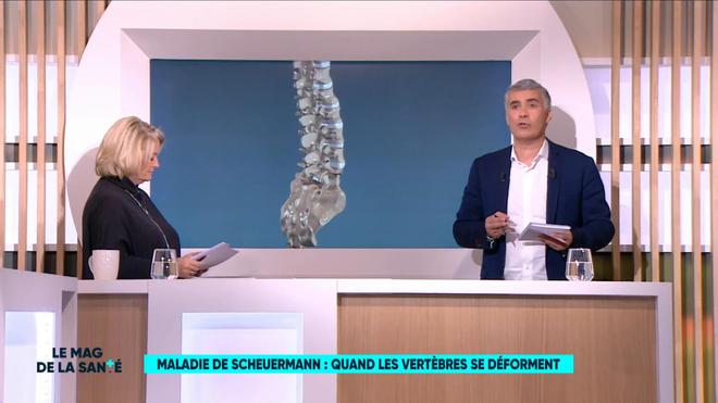 Marina Carrère d'Encausse et Régis Boxelé expliquent la maladie de Scheuermann