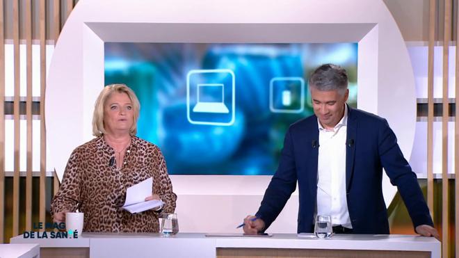 Marina Carrère d'Encausse et Régis Boxelé explique la formation d'une épine calcanéenne
