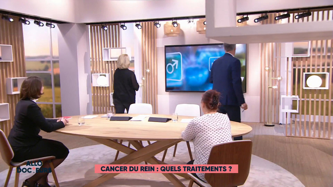 Marina Carrère d'Encausse et Régis Boxelé expliquent le cancer du rein