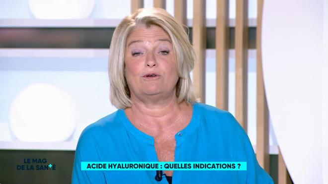 Marina Carrère d'Encausse et Régis Boxelé expliquent l'acide hyaluronique.