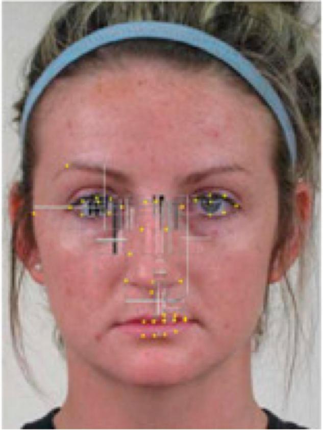 De façon générale, la forme de l'œil, de la partie supérieure de la bouche et les arêtes du nez apparaissent être les sites où se concentre l'information la plus discriminante. (Synthèse, présentée sur un visage neutre)