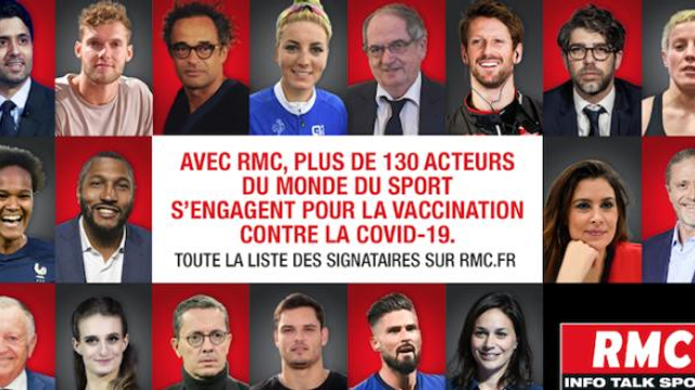 130 personnalités du sport s'engagent pour la vaccination contre le Covid