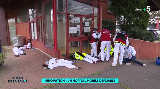 Le CHU de Toulouse lance un hôpital mobile dépliable
