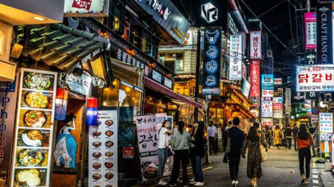 Image d'illustration. Quartier de Gangnam, à Séoul.