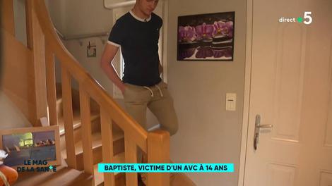 Baptiste, victime d'un AVC à 14 ans