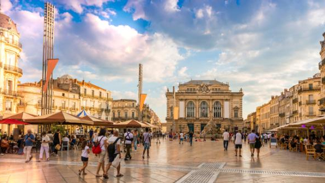 Image d'illustration. La ville de Montpellier, en région Occitanie, est une des métropoles qui affiche le plus fort taux d'incidence.