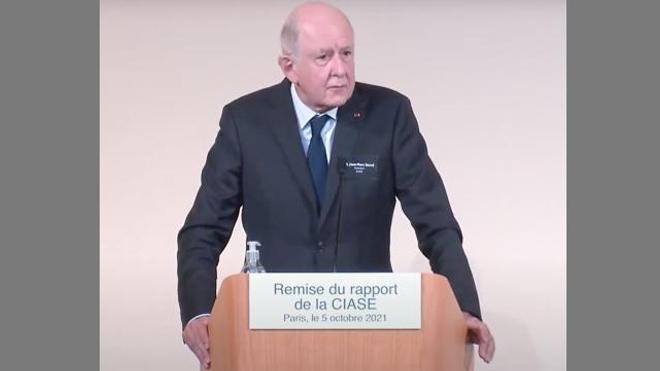 Jean-Marc Sauvé, président de la Ciase, présentait les conclusions de l'enquête menée pendant deux ans et demi par la Commission.