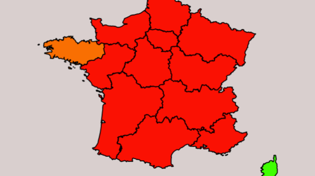 CARTE. Alerte rouge en France pour l'épidémie de bronchiolite du nourrisson