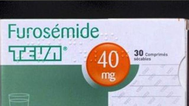 Rappel de lots du diurétique Furosémide TEVA 40 mg